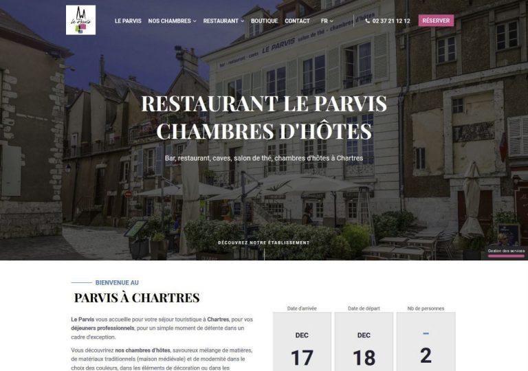 Refonte graphique du site internet du restaurant le Parvis