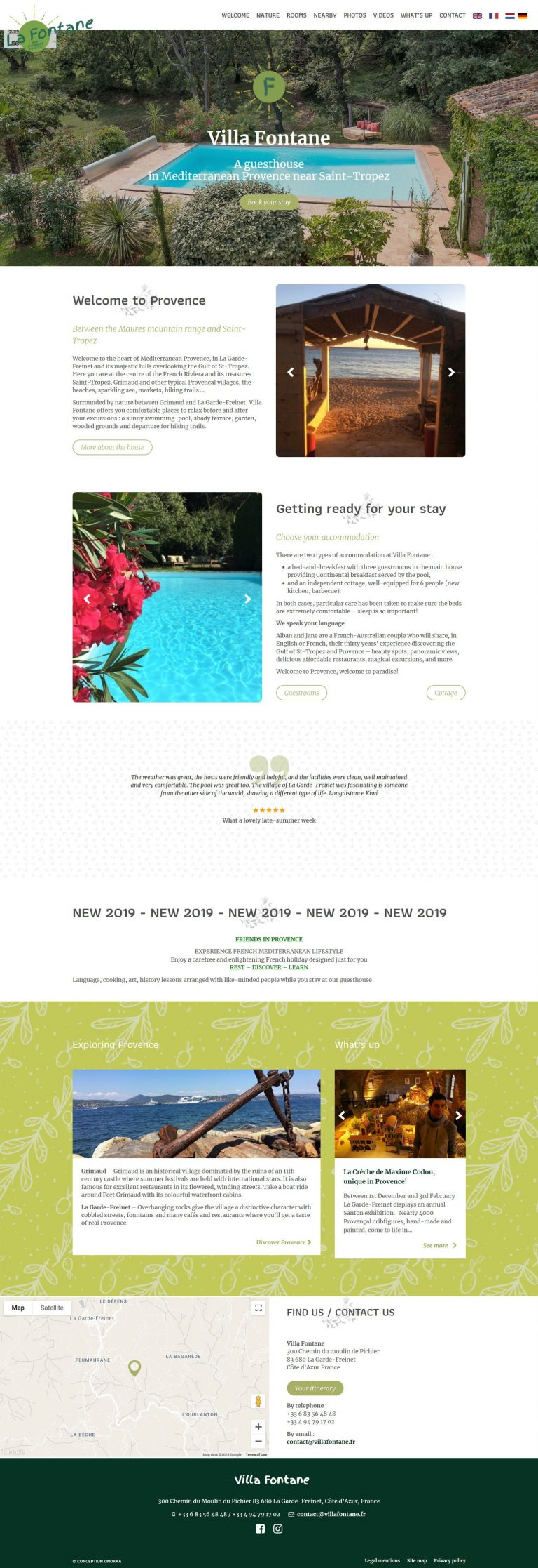 Création site internet hôtel Pau