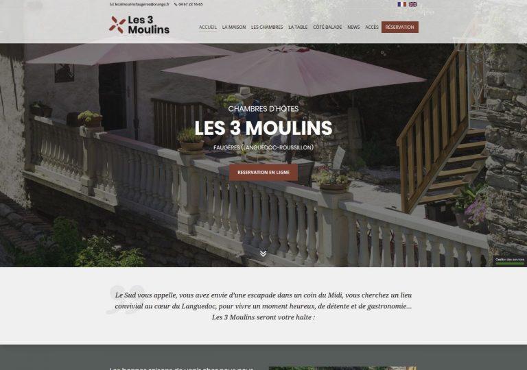 Refonte graphique du site internet les3moulins.fr