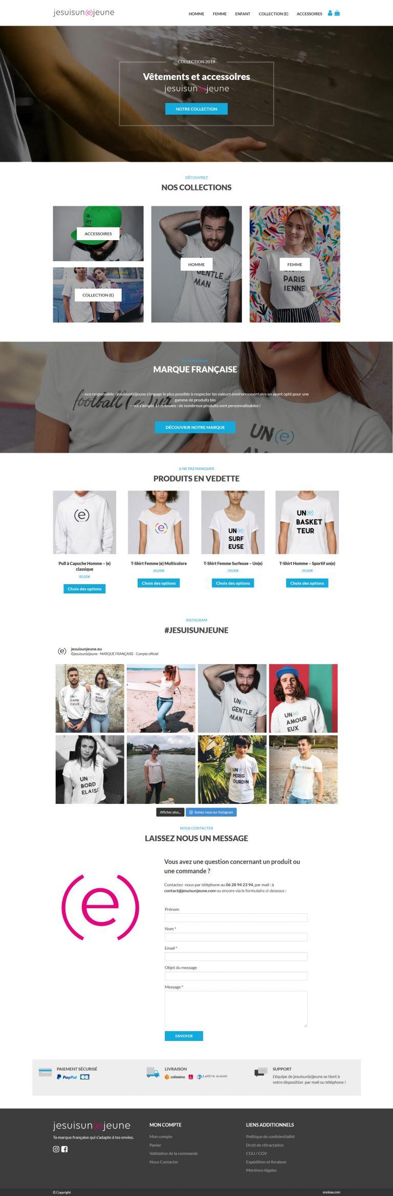 Site e-commerce jesuisunjeune